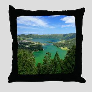 Sete Cidades lakes Throw Pillow