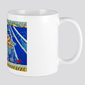 Starfish and Turtle Seascape Mug