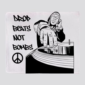 Drop beats not bombs Throw Blanket