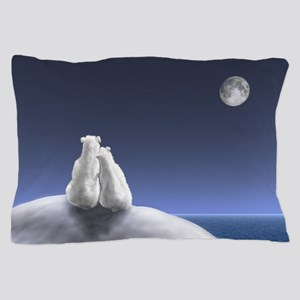 Polar Bears By Moonlight Pillow Case