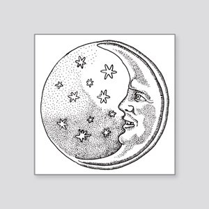"""Man in the Moon Square Sticker 3"""" x 3"""""""