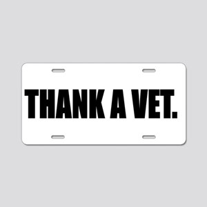 THANK A VET Aluminum License Plate