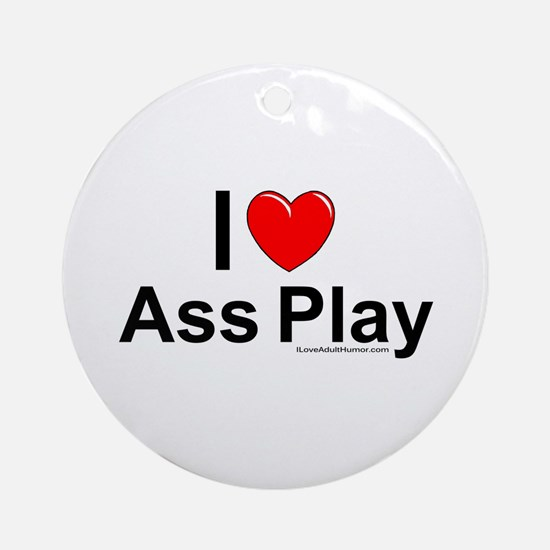 Ass Play Ornament (Round)