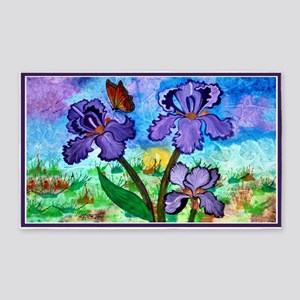 Iris At Sunrise 3'x5' Area Rug