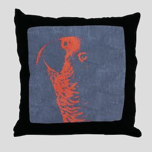 African Grey Parrot Silhouette Pop Ar Throw Pillow