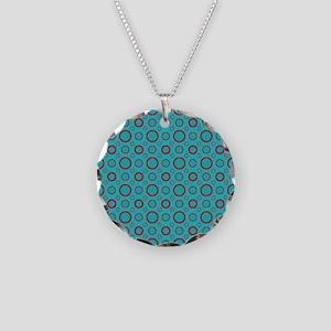 Red and Aqua Circles Necklace