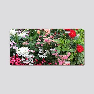 Flowers in bloom, Anchorage Aluminum License Plate