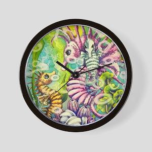 Family of Seahorses Wall Clock