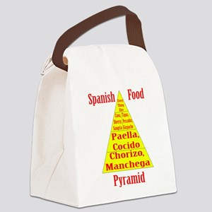 Spanish Food Pyramid Canvas Lunch Bag