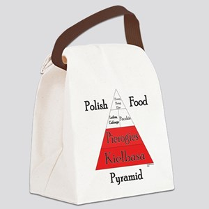 Polish Food Pyramid Canvas Lunch Bag
