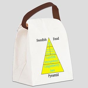 Swedish Food Pyramid Canvas Lunch Bag