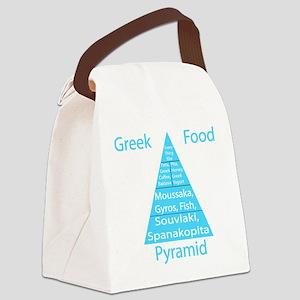Greek Food Pyramid Canvas Lunch Bag