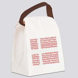 Danish Cities Flag Canvas Lunch Bag