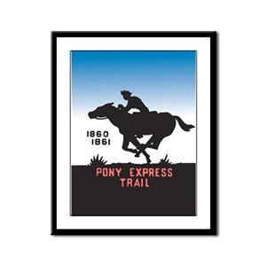The Pony Express Framed Panel Print