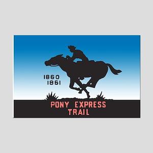 The Pony Express Mini Poster Print