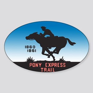 The Pony Express Sticker (Oval)