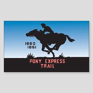 The Pony Express Rectangle Sticker