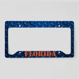Florida Diamond Plate License Plate Holder