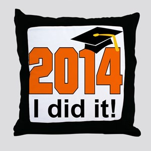 2014 I did it! Throw Pillow