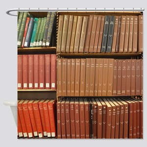 Bookshelves Shower Curtain