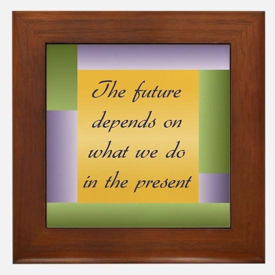 Ghandi quote Framed Tile