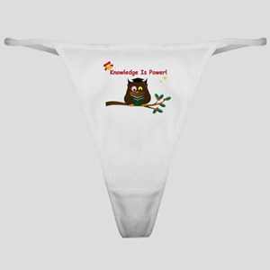 Wise Owl for Christmas Classic Thong