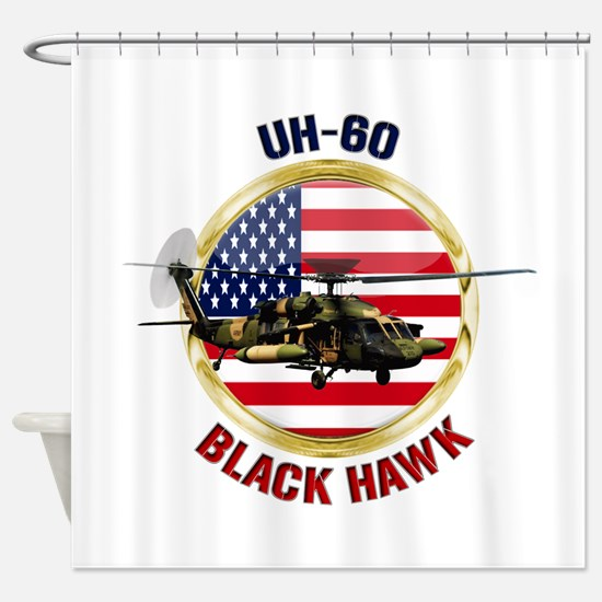 UH-60 Black Hawk Shower Curtain