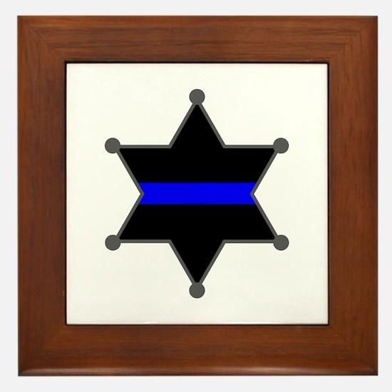 Blue Line Badge 2 Framed Tile