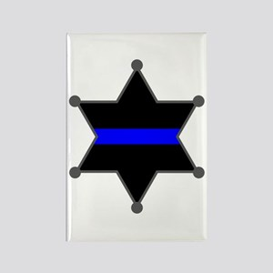 Blue Line Badge 2 Rectangle Magnet