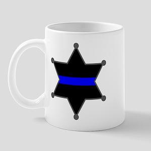 Blue Line Badge 2 Mug
