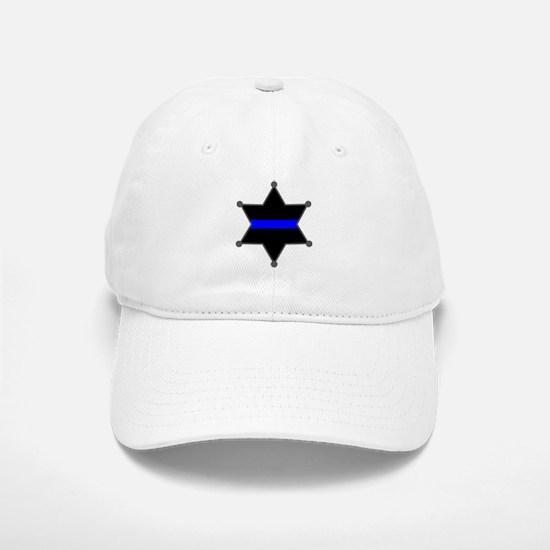 Blue Line Badge 2 Baseball Baseball Cap