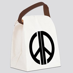 AA Peace Symbol Canvas Lunch Bag