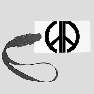 AA Peace Symbol Luggage Tag