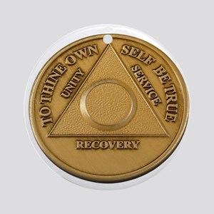 Alcoholics Anonymous Anniversary Chip Ornament (Ro