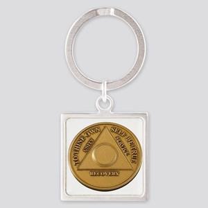 Alcoholics Anonymous Anniversary Chip Keychains