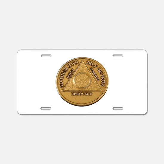 Alcoholics Anonymous Anniversary Chip Aluminum Lic