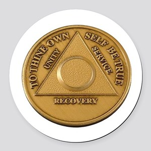 Alcoholics Anonymous Anniversary Chip Round Car Ma