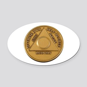 Alcoholics Anonymous Anniversary Chip Oval Car Mag