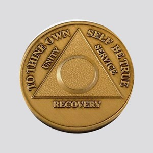"Alcoholics Anonymous Anniversary Chip 3.5"" Button"