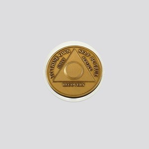 Alcoholics Anonymous Anniversary Chip Mini Button