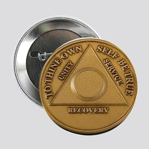 """Alcoholics Anonymous Anniversary Chip 2.25"""" Button"""