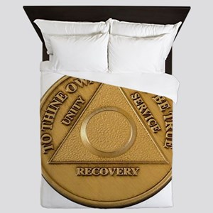Alcoholics Anonymous Anniversary Chip Queen Duvet