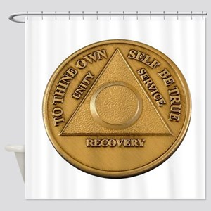 Alcoholics Anonymous Anniversary Chip Shower Curta