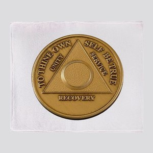 Alcoholics Anonymous Anniversary Chip Throw Blanke