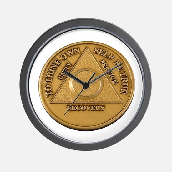 Alcoholics Anonymous Anniversary Chip Wall Clock