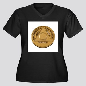 Alcoholics Anonymous Anniversary Chip Plus Size T-