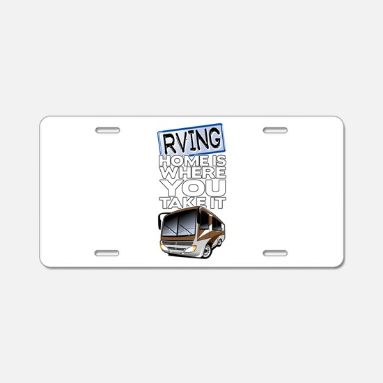 RVing 2 Aluminum License Plate