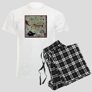 Gone Fishing Men's Light Pajamas