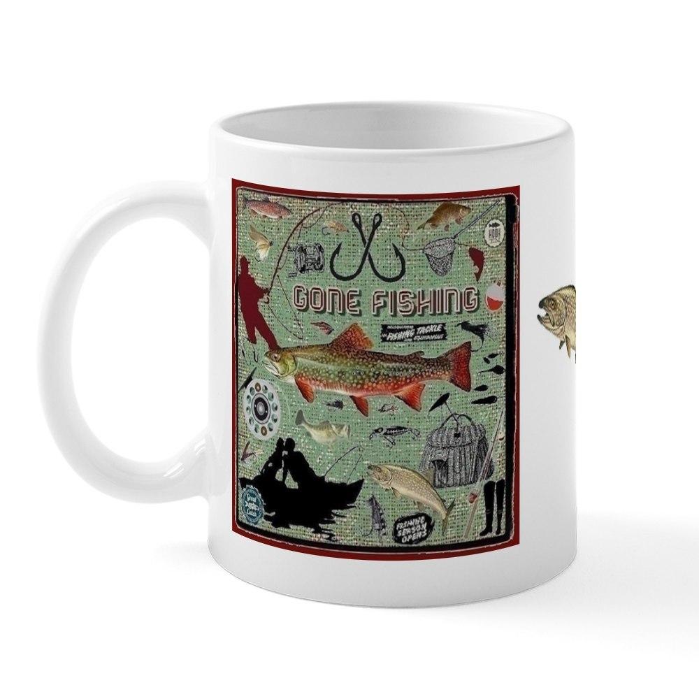 miniature 3 - CafePress Gone Fishing Mug Mugs 11 oz Ceramic Mug (1283922604)