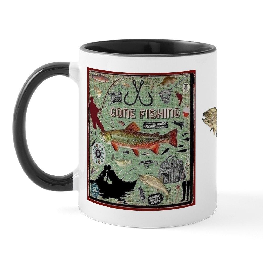 miniature 5 - CafePress Gone Fishing Mug Mugs 11 oz Ceramic Mug (1283922604)